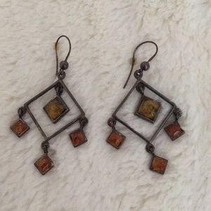 Jewelry - Amber Dangling Earrings